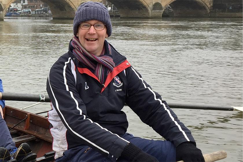 James Shone Rowing Thames