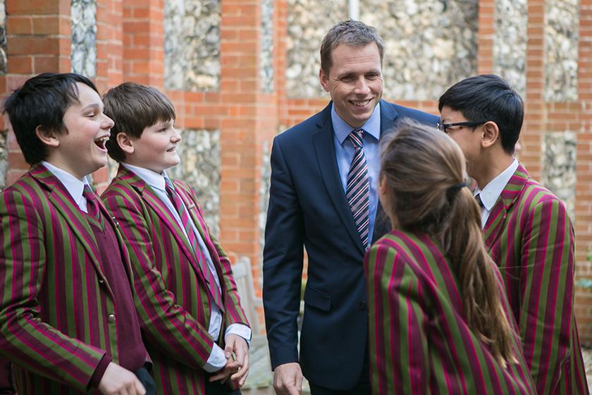 Headmaster Gareth Jones