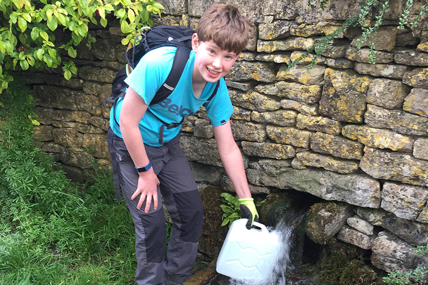 Pupils Takes On Water Challenge
