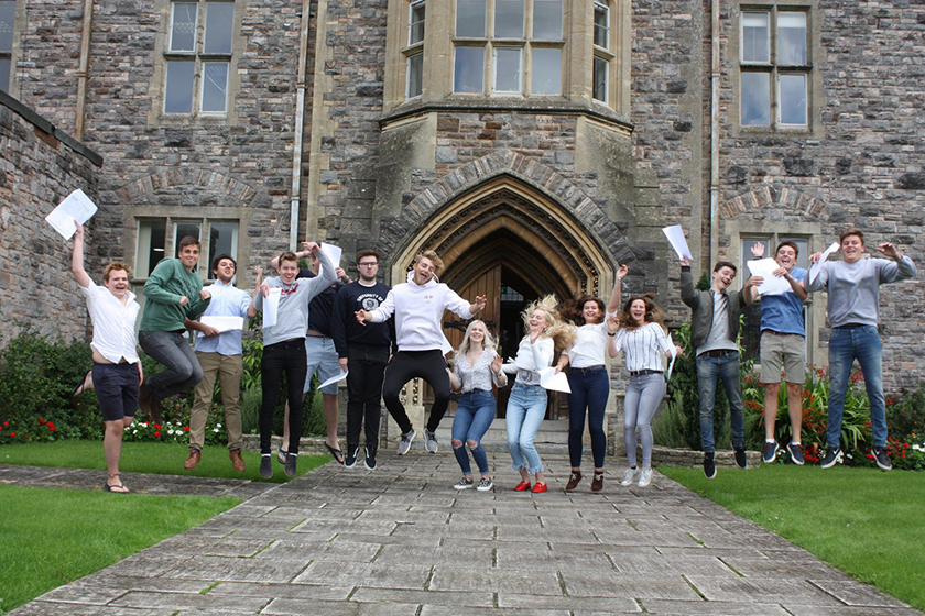 Taunton School A-level results day