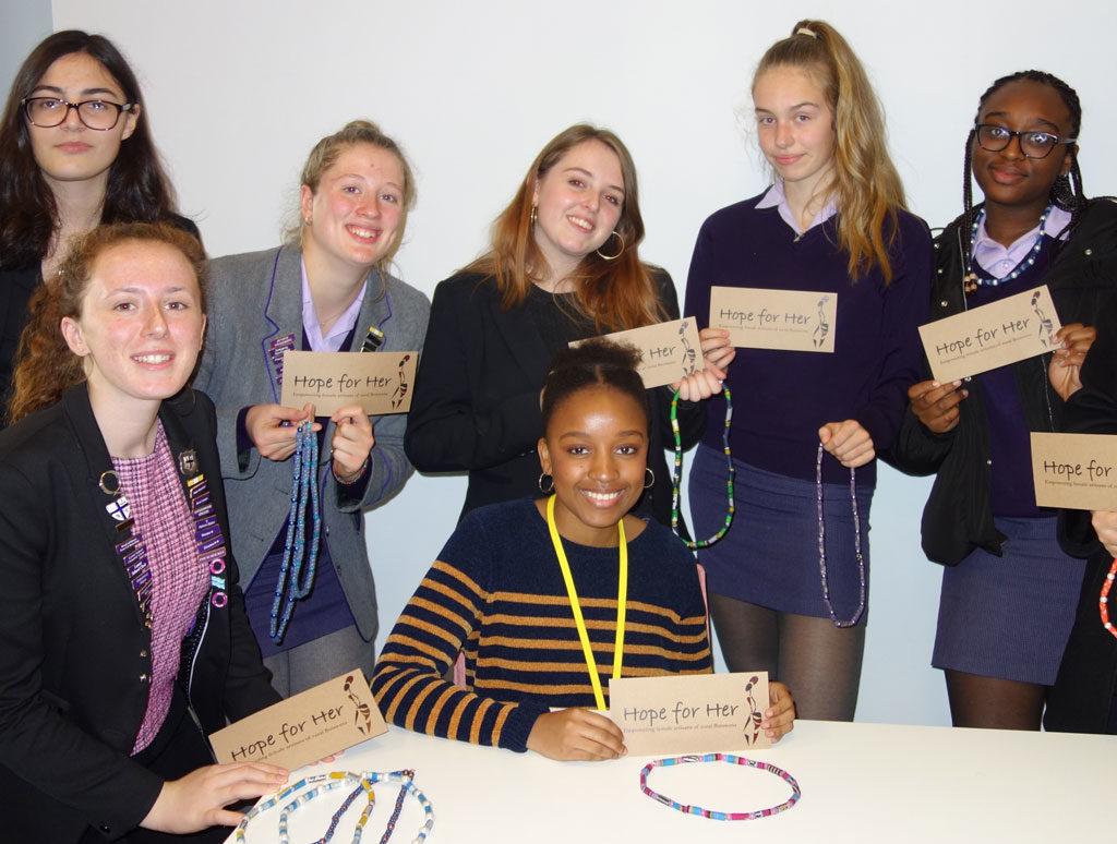 schoolgirls empowering women