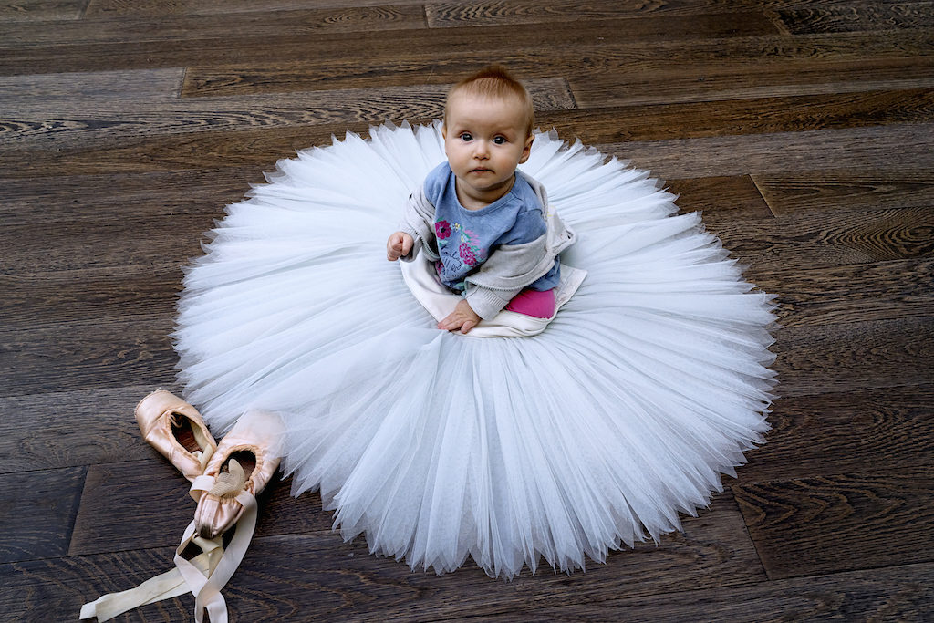 Young child at Ballet Dots, Royal Opera House