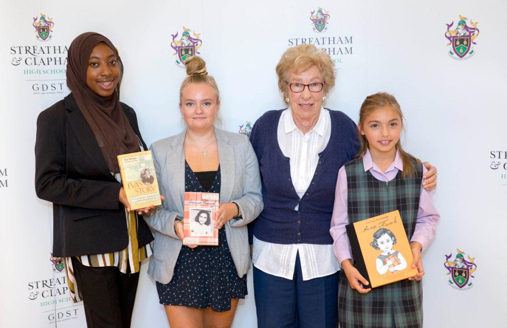 Eva Schloss at Streatham & Clapham High School, GDST