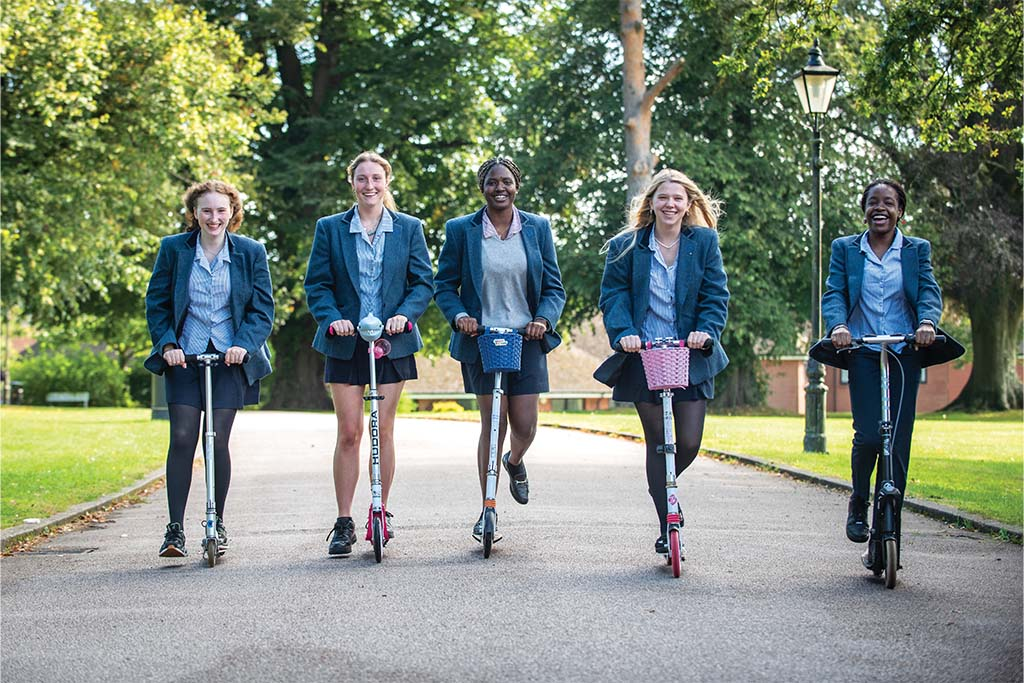 scholarship advice: Benenden girls on scooters