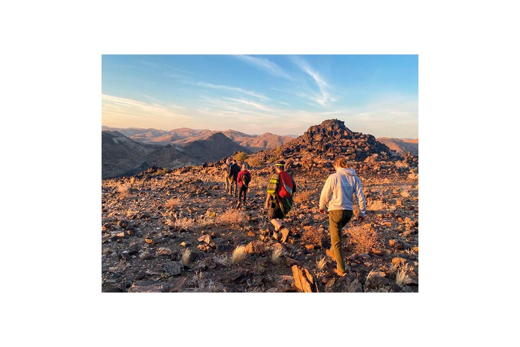 gap year advice: Early morning trek on the reserve in Namibia