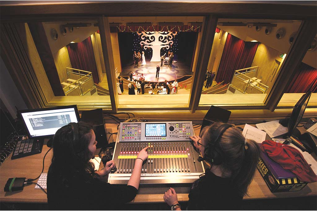 Brave new world: In the tech box at St Catherine's, Bramley in Surrey