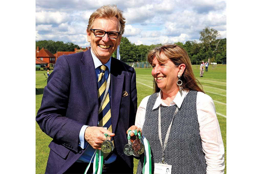 prep school bursaries: Phillip Evitt and his wife, Jo, at Sports Day this summer
